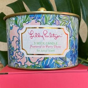 Lilly Pulitzer 3-wick Candle Party Thyme N…